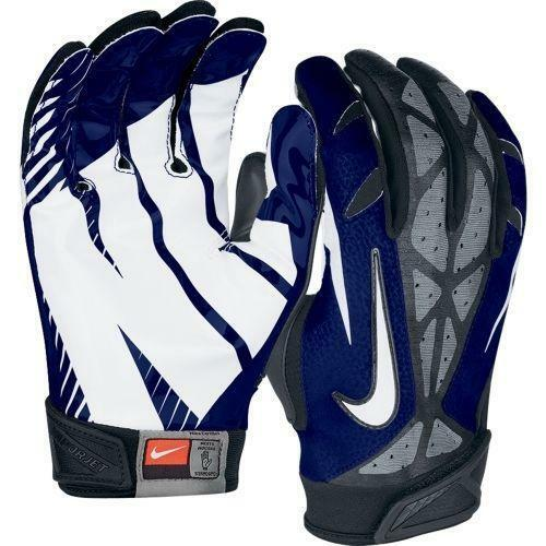 Nike Football Gloves: Navy Blue Football Gloves
