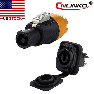 3 Pin Power Connector Plug Socket Waterproof Ip67 Compatible W Neutrik Ac Dc