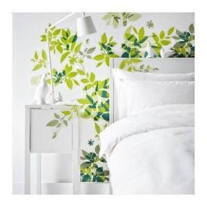 Decorative Wall Stickers (Reusable Wall Decals - Leaf Motif)