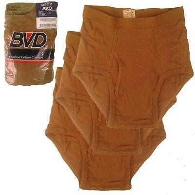 BVD Briefs Underwear Mens Size 32 Brown Military Issue USGI