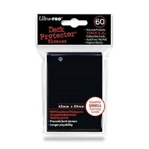 60-Ultra-Pro-DECK-PROTECTOR-Card-Sleeves-BLACK-YuGiOh-Small-Size-82687-1-pack