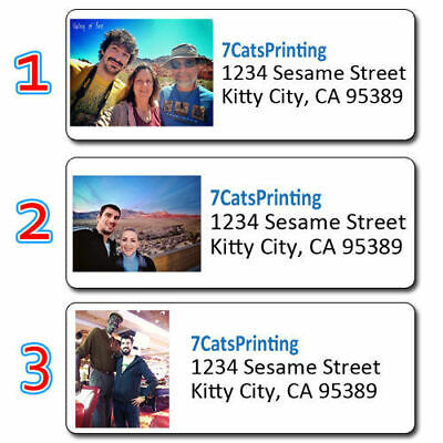 30 Custom Photo Return Address Labels Personalized - Any Picture