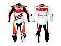 Honda Repsol 1 or 2 pc Leather Racing Motorbike Suit