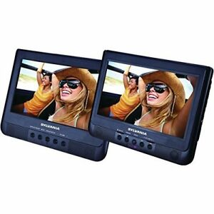 "Brand New Sylvania 10.1"" LCD Dual Screen Portable Car DVD Player"