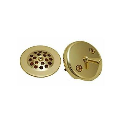 Danco Polished Brass Overflow Plate and Stopper Assembly  #89243 - Overflow Plate Assembly