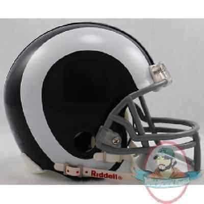 LA Rams 1965 to 1972 Riddell Mini Replica Throwback Helmet ()