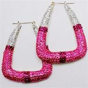 Pink Bamboo Earrings