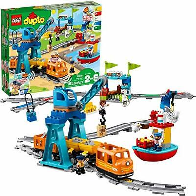 LEGO DUPLO Cargo Train 10875 Battery-Operated Building Blocks Set for TODDLER 🔱