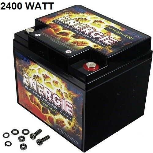 Car Audio Power Cell Battery Energie PR2400 12 Volt 2400 Watt Sealed Reikken