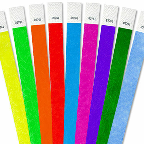 """25000 1"""" Tyvek Wristbands-Choose Your Color-Bars,Events,Clubs,Security,ArmBands"""