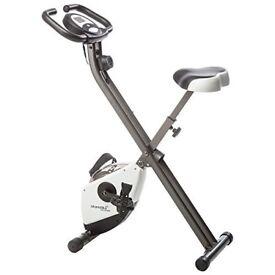 Skandika Foldaway x 1000 Exercise Bike Home Trainer with Hand Pulse Sensors/Brand New Still in Box