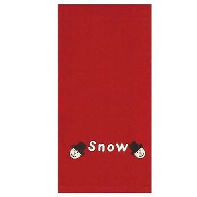 """Home Collection by Raghu Snow Snowman Heads Towels, 18"""" x 28"""", Red Set of 2 New"""