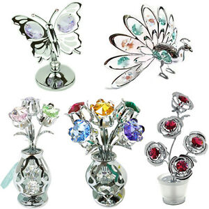CRYSTAL-ORNAMENTS-NEW-GIFT-SET-COLLECTABLE-CRYSTOCRAFT-WITH-SWAROVSKI-ELEMENTS