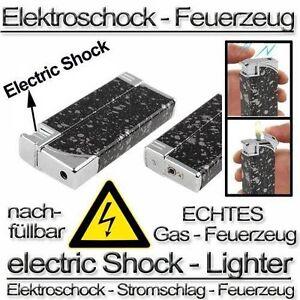 Scherzartikel Elektroschock Feuerzeug Sturmfeuerzeug Stromschlag ELECTRIC SHOCK