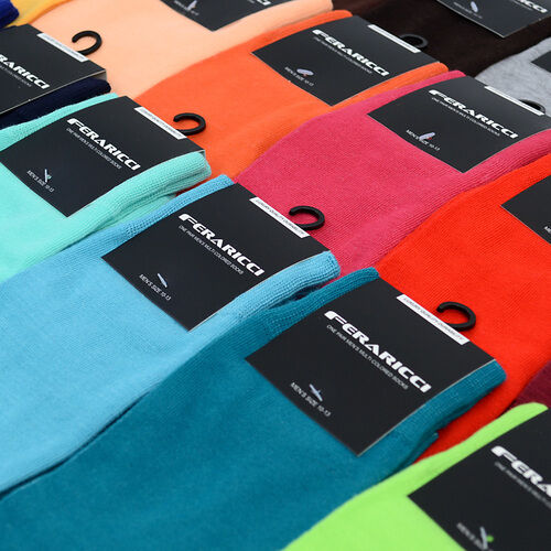 Men/'s Colorful Solid Dark Brown Dress Casual Socks Size 10-13 New Wedding