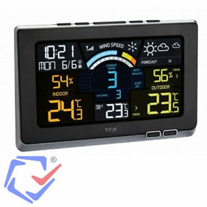 Spring Breeze Weather Station TFA 35.1140.01Color Display Radio Controlled Clock