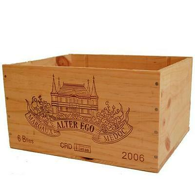1 X GENUINE FRENCH WOODEN WINE BOX PLANTER HAMPER DISPLAY STORAGE WEDDING DECOR
