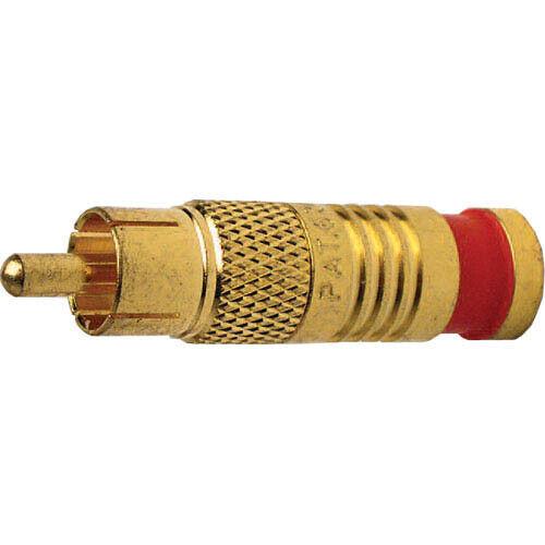 Platinum Tools 18055 RCA RG59 Connectors, Gold Plate. 25pc/Bag.