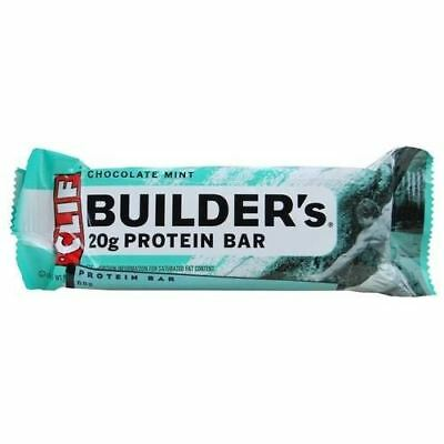 Clif Bar Builders Chocolate Mint Bar 68g (Pack of 12) ()