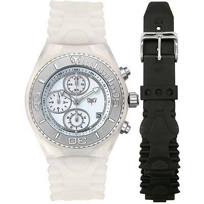 "TechnoMarine ""Journey"" WHITE CSX55 *BRAND NEW* Chronograph Watch with extra strap"