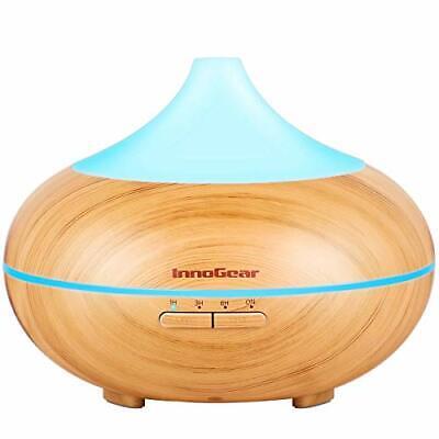 InnoGear 500ml Aromatherapy Essential Oil Diffuser Wood Grai