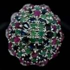 Ruby Emerald Sapphire Ring