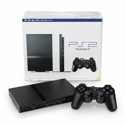 Sony PlayStation 2 PS2 Black Slim Console Ps1 Compatible FREE Priority Shipping