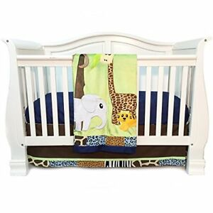 New 7 Pcs Baby Bedding Set Baby Cot Crib Bedding Set Cartoon Animal Baby Crib Set Quilt Bumper Sheet Skirt Harmonious Colors Bedding Sets