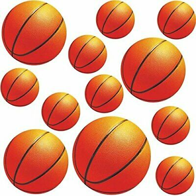 Basketball Cutouts (Amscan Basketball Value Pack Assorted Cutouts, Party Decoration, 12 Pack)