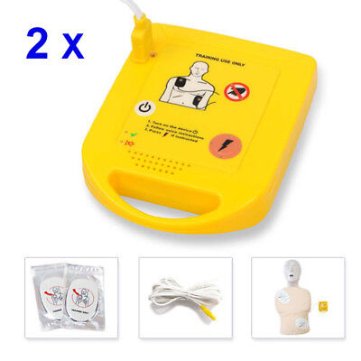 2x Aed Trainer Xft-d0009 Mini Training First Aid Teaching Machine Train Kits
