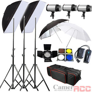 750W STUDIO LIGHTING FLASH STROBE KIT PHOTOGRAPHY LIGHT