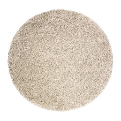 ÅDUM Rug, high pile, off whitein Nottingham, NottinghamshireGumtree - IN GOOD CONDITION Diameter 130 cm Area 1.33 m² Surface density 3300 g/m² Pile coverage 1982 g/m² Max. pile length 23 mm Collection only