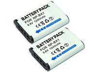 2 x MP POWER REPLACEMENT BATTERY PACKS FOR SONY NP-BX1 3.6v 1240mAh BATTERIES.**