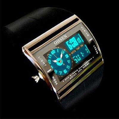 Digital Analog LED Luminous Date Rubber Band Sport Men's Boy's Wrist Watch Cheap