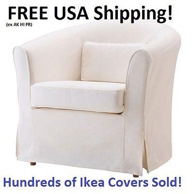 Ikea Ektorp Tullsta Chair Armchair Cover Slipcover Blekinge White New  Sealed