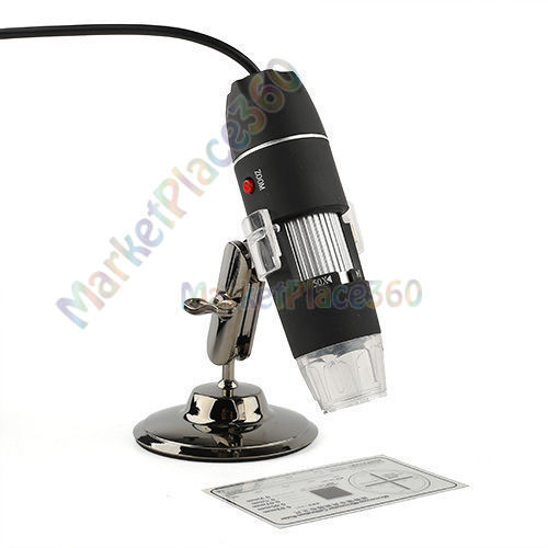 New 8 LED Light 500X USB Digital Microscope Cam Adjustable Stand Windows 7 8