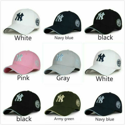 NEW Unisex Mens Womens Baseball Cap Adjustable NY Snapback Sport Hip-Hop Sun Hat