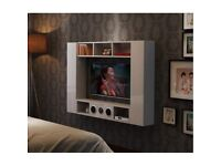 White High Gloss TV Stand TV Wall Unit for 32 to 44 inches BRAND NEW BOX