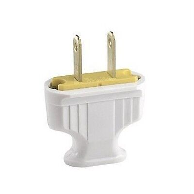 Cooper Wiring White Flat Handle 2wire Plug 1912w-box