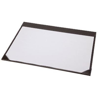 Osco Faux Leather Desk Mat Full Demi With 10 White Paper -brown