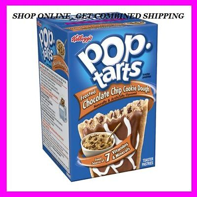 8 Tarts Kelloggs Pop Tarts Frosted CHOCOLATE CHIP COOKIE DOUGH, Exp. New/Fresh Chocolate Chip Cookie Dough Pop Tarts