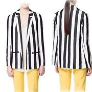 White Blazer Black Collar