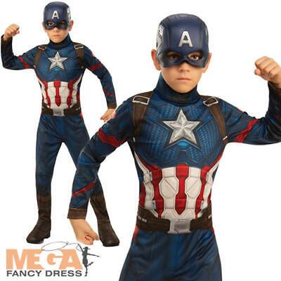 Captain America Boys Fancy Dress Marvel Avengers Endgame Kids Superhero Costume