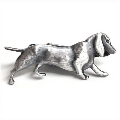 Used, Miniature dachshund Dog Unique Tie Clasps & Tacks RooZee Tie Clip Bar Pin Japan for sale  Shipping to United States