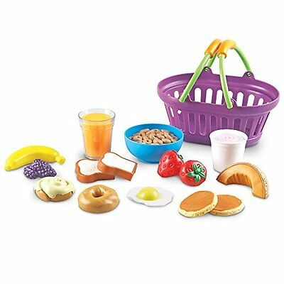 Kitchen Toys Learning Resources New Sprouts Breakfast Foods Basket, 16 Pieces (Breakfast Basket)