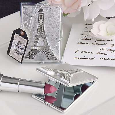 Parisian Themed Bridal Shower (24 Eiffel Tower Parisian Theme Compact Mirrors Bridal Shower Wedding)