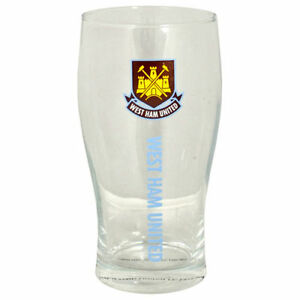 West Ham United FC Official Football Crest Pint Glass