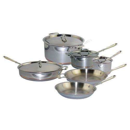 All Clad Stainless Steel 10 Piece Cookware Set Ebay