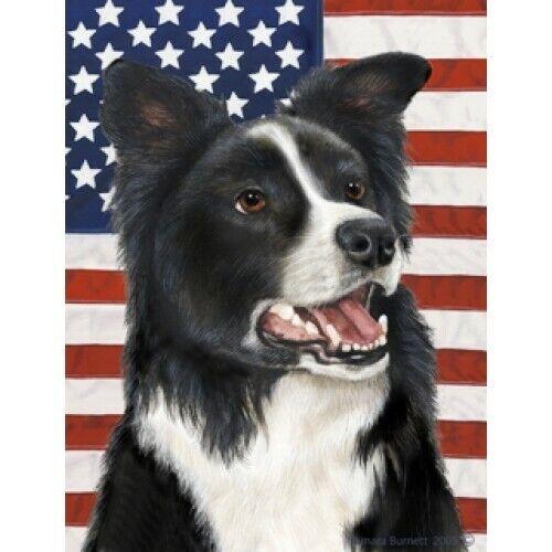Patriotic (D2) House Flag - Border Collie 32030