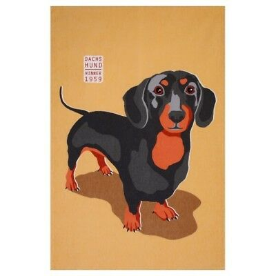 Dachshund Sausage Dog Weiner Dog Cotton Tea Towel Ralf Ulster Weavers BNWT for sale  Shipping to United States